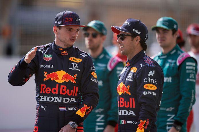 Max Verstappen en Sergio Pérez.