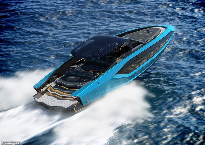 Lamborghini's speedboot is 63 meter lang