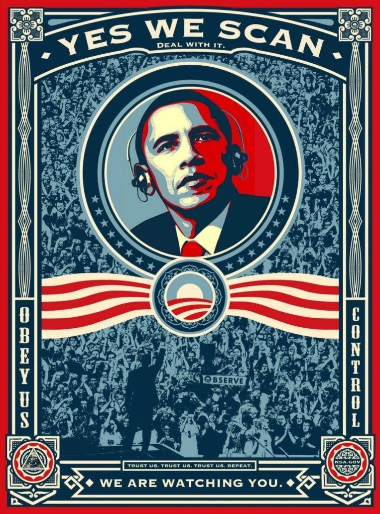 null Beeld Bewerkte versie van Obama's verkiezingsposter
