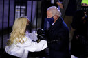 Joe Biden en Lady Gaga.