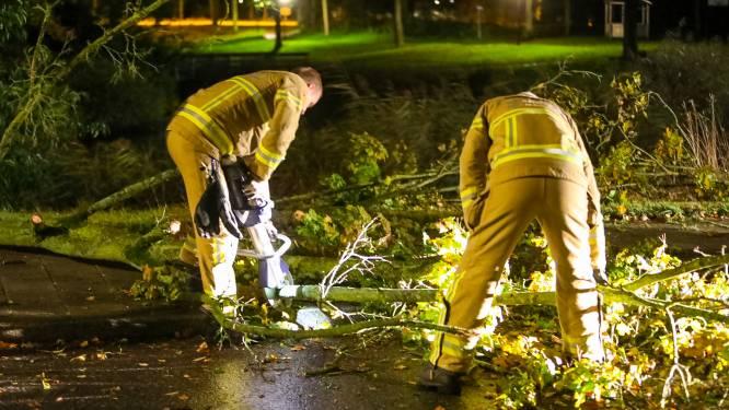 Stormachtige nacht in Oost-Nederland: code geel nog steeds van kracht