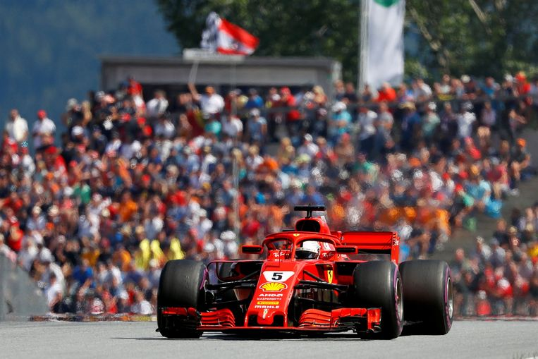 Sebastian Vettel deed een gouden zaak.
