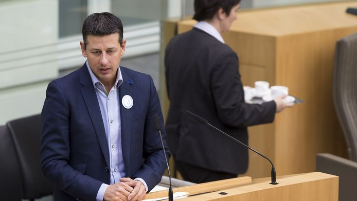 Vlaams Belang fractieleider in het Vlaams Parlement Chris Janssens
