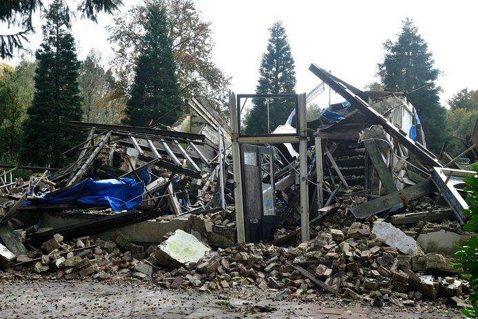 De Oranjerie van Huize den Treek is ingestort