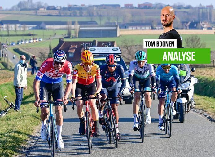 Tom Boonen zag in Kuurne-Brussel-Kuurne een enorm sterke Mathieu van der Poel.