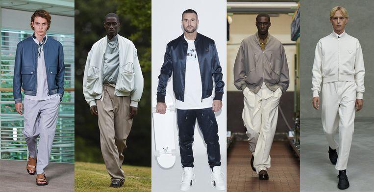 Vanaf links: Hermès, Ermenegildo Zegna, Philipp Plein, Ermenegildo Zegna, Prada Beeld Imaxtree