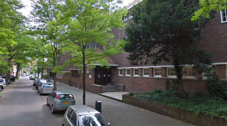 Het Hervormd Lyceum Zuid in de Brahmsstraat in Amsterdam Beeld Street View