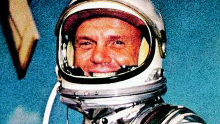 Astronaut John Glenn: zo'n held waar je je als Amerikaans kind aan kon optrekken. Foto: ap Beeld