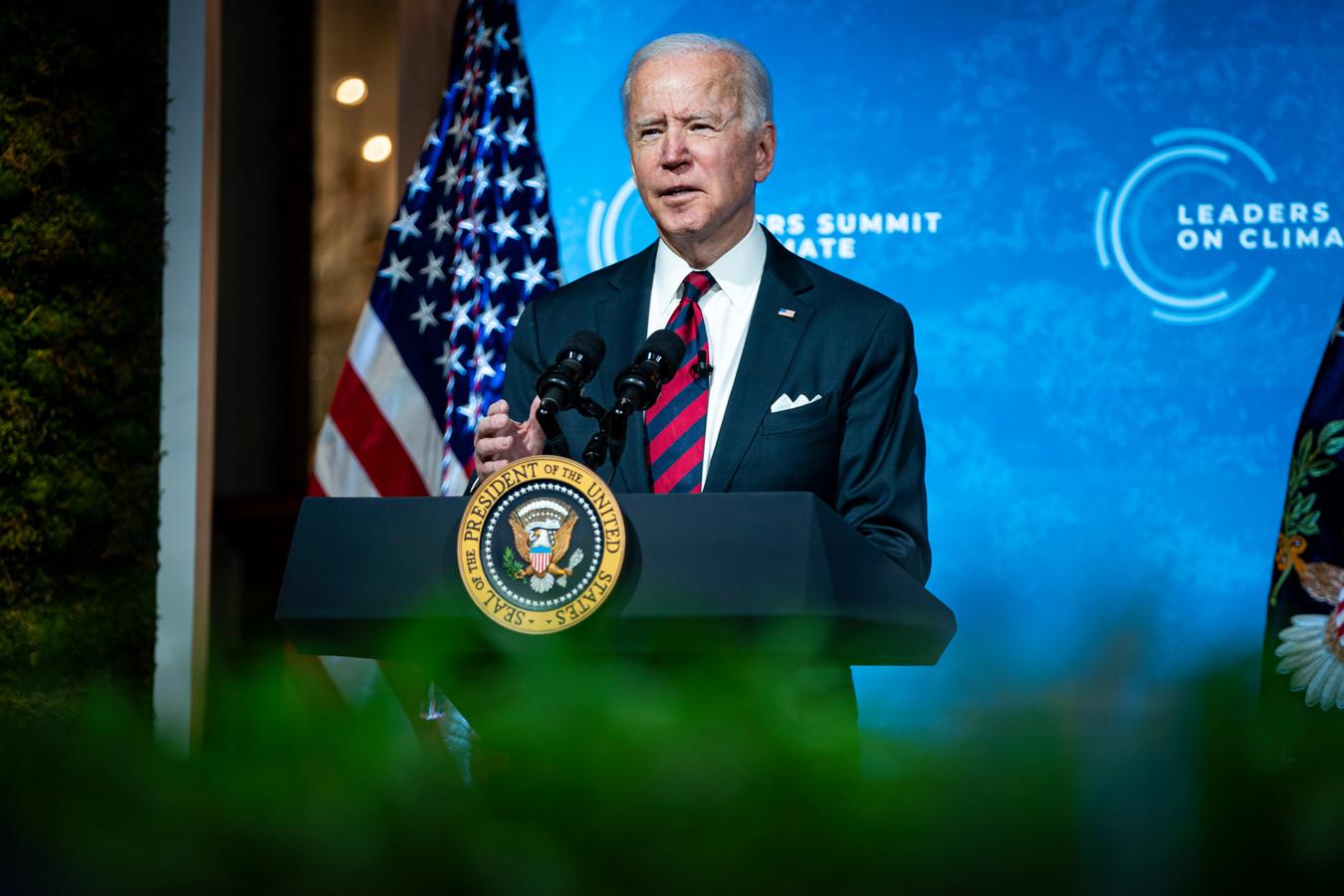Biden sprak eerder deze week op een digitale Klimaattop.