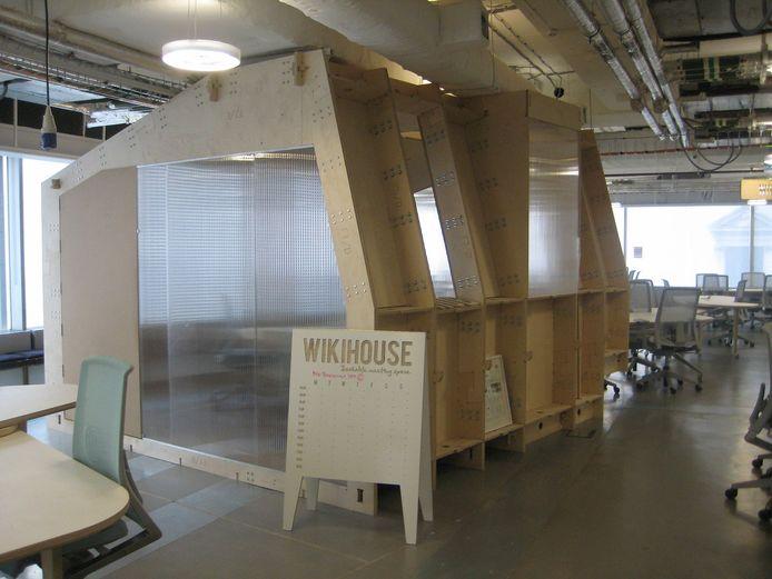 Een voorbeeld van een Wikihouse in Westminster