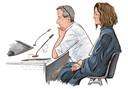 Verdachte Rik B, eerder getekend in de rechtbank met zijn advocaat