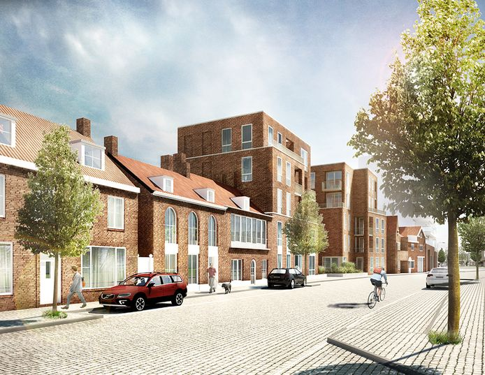 Een impressie van nieuwbouwproject De Mersjant aan de Koopvaardijstraat in Tilburg. Het ontwerp is van Bygg Architecture V.O.F.