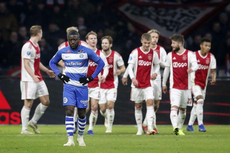 Ajax en De Graafschap tijdens een eerder duel. Beeld anp