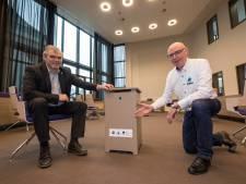 'Nachtkastjes' uit Ochten halen virussen uit de lucht in gemeentehuis