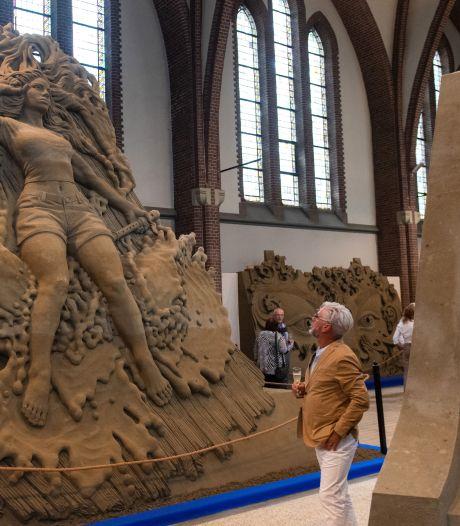 Oosterhout mikt op tienduizenden bezoekers voor zandsculpturen in de Antoniuskerk