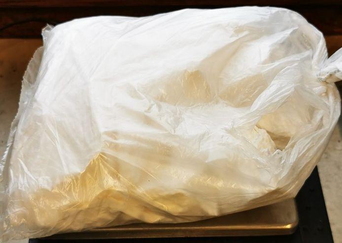 De 500 gram cocaïne die werd aangetroffen bij een man in de trein bij Bad Bentheim.