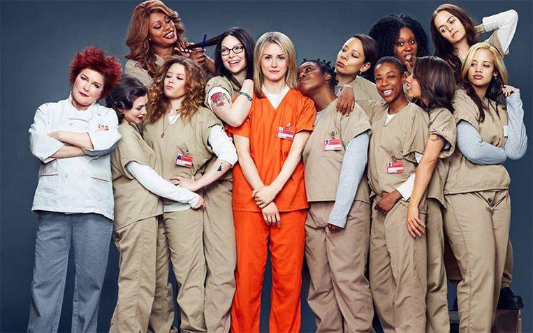 De cast van de succesvolle Netflixserie 'Orange Is the New Black'. Beeld rv