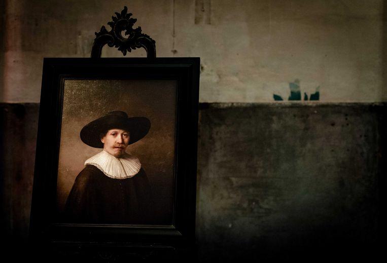 Nauwelijks van een originele Rembrandt te onderscheiden is dit werk van de 'hand' van een computer. Beeld EPA