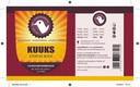 Kuuks Sterke Bock. 9,5% Robijnrode bock, met zachte smaak. Rozijn, vleugje pruim en afgerond met dennenaroma.