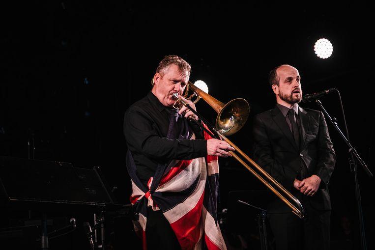 Matthew Herbert's Brexit Big Band op Jazz Middelheim Beeld Wouter Van Vooren