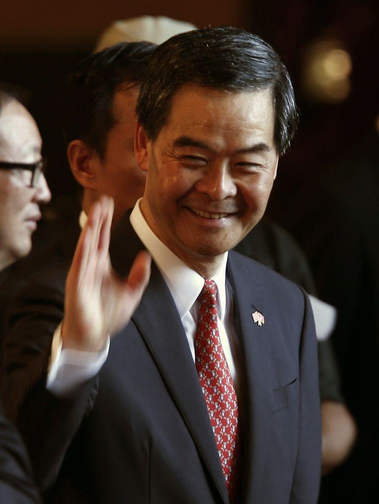 De Pekinggezinde bestuurder van Hongkong, Leung Chun-ying. Beeld reuters
