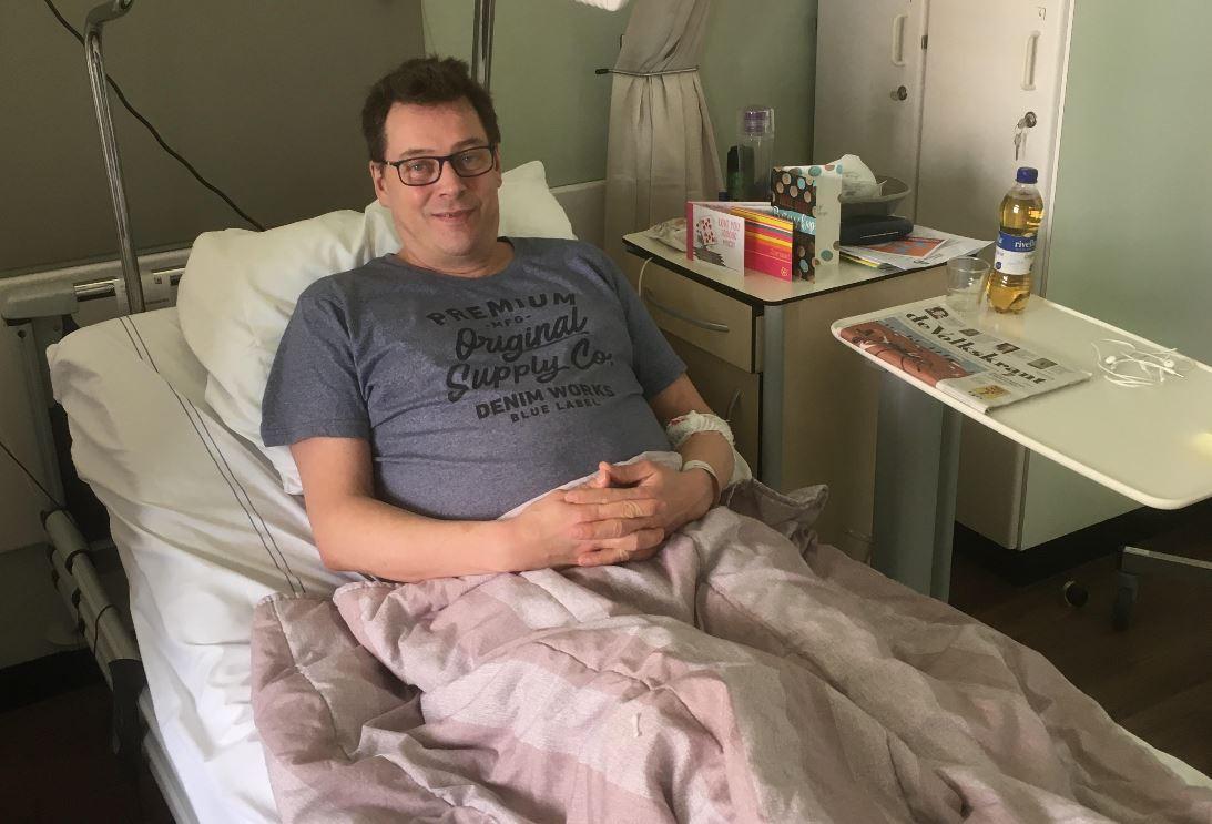 Richard Koops ligt sinds zondag in het Albert Schweitzer ziekenhuis in Dordrecht.