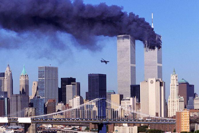 Aanslag op de Twin Towers op 11 september 2001.