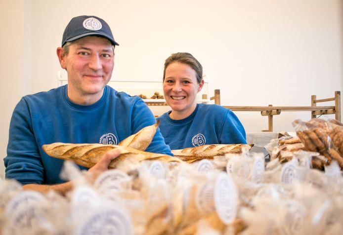"""De kersverse bakker Frank Van Hecke, met zijn vrouw Stephanie Walckiers: """"Ik kon niet anders dan mijn passie volgen."""""""
