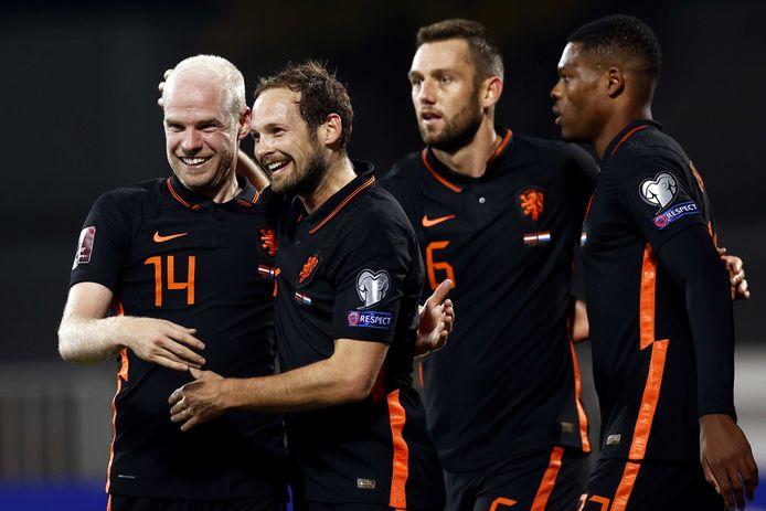 Davy Klaassen maakte in de negentiende minuut de winnende goal voor Oranje in Riga.
