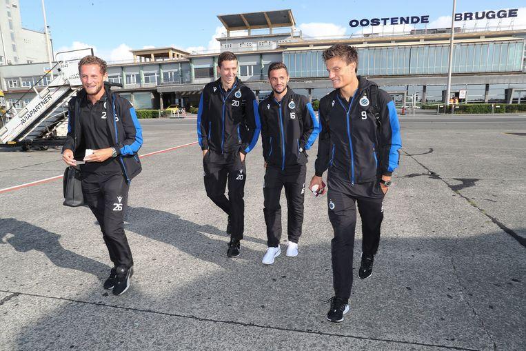 Club Brugge op de luchthaven.