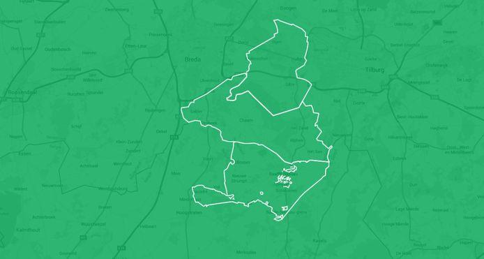 De drie ABG-gemeenten Alphen-Chaam, Baarle-Nassau en Gilze en Rijen.