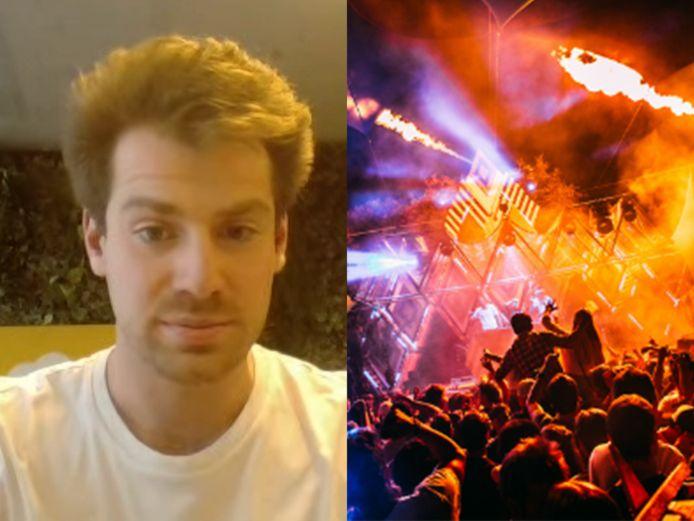 Tom Van Damme (25), één van de organisatoren van het Bevrijdingsfeest.