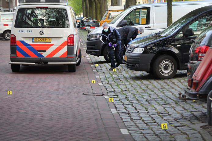 Er werd vanuit een van de auto's op de ander geschoten.