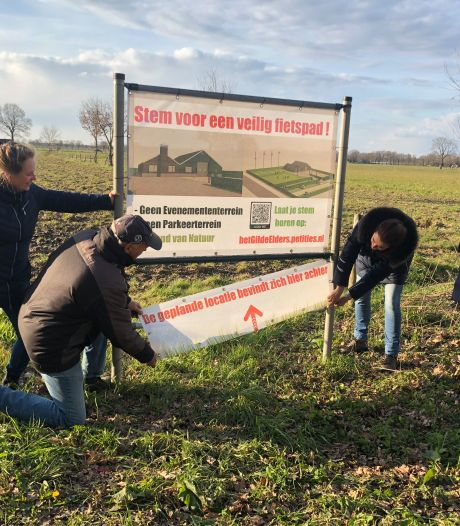 Omwonenden in verzet tegen verhuisplannen gilde Berkel-Enschot