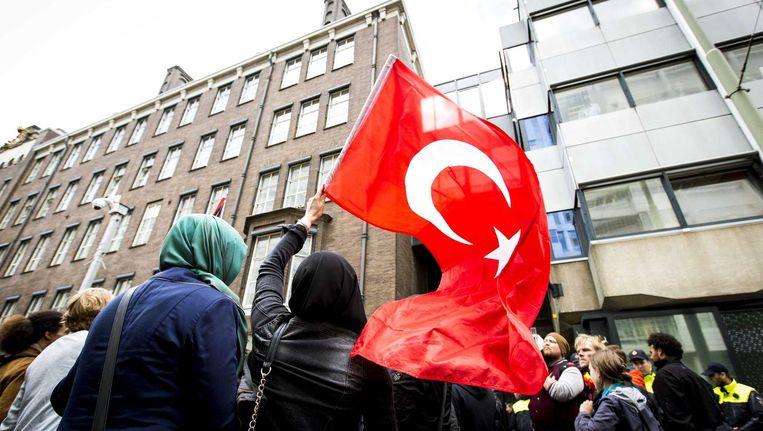 Eerder protest tegen het Israëlische ingrijpen in de Gazastrook in Den Haag Beeld anp