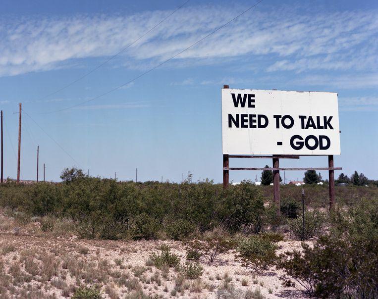 Als God spreekt, dan luisteren wij. Beeld Sandy Carson/INSTITUTE