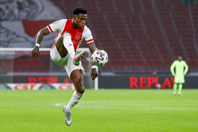 Quincy Promes tijdens Ajax - PEC Zwolle, 12-12-2020.  Beeld Toon Dompeling