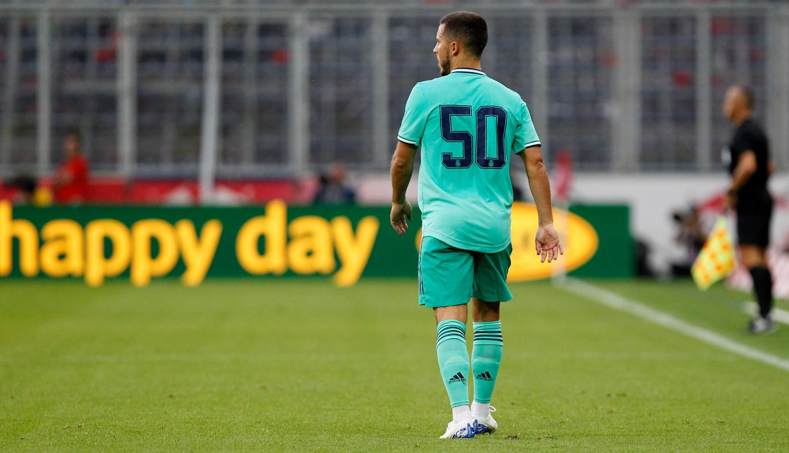 Eden Hazard speelde tot nu toe met rugnummer 50 bij Real Madrid.