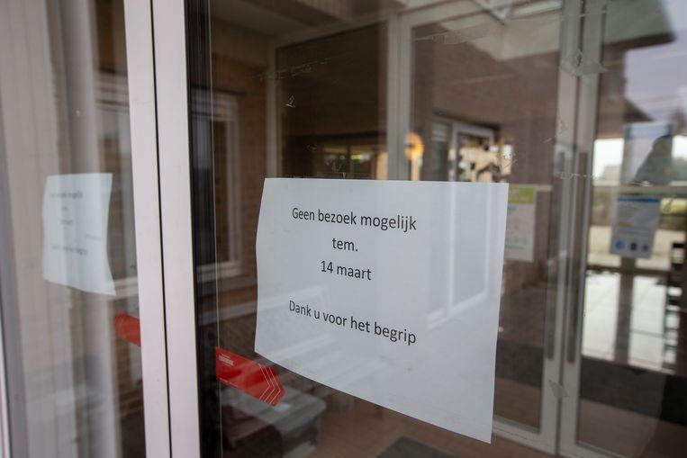 In het woon-zorgcentrum Wielant in Anzegem gaan de deuren enkele weken dicht na een uitbraak met de Zuid-Afrikaanse variant. Beeld BELGA