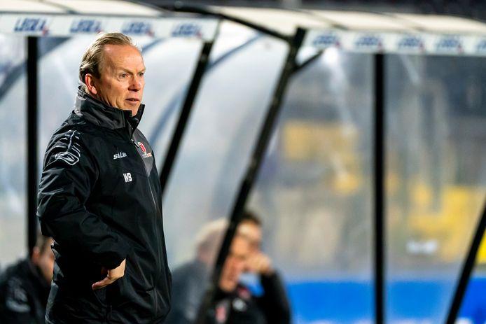 Wil Boessen zette tegen Jong FC Utrecht (2-1 winst) na een aantal mindere wedstrijden weer de weg omhoog in met zijn ploeg.
