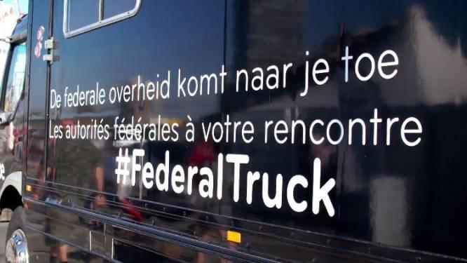 Federale overheid voert met truck campagne tegen zwerfvuil in Noordzee