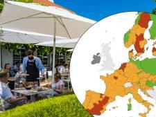 Flandre et Wallonie en orange sur la carte européenne corona
