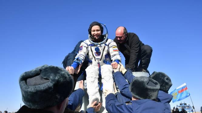 Actrice Peresild na filmopnames in de ruimte: 'We moeten opnieuw leren lopen'