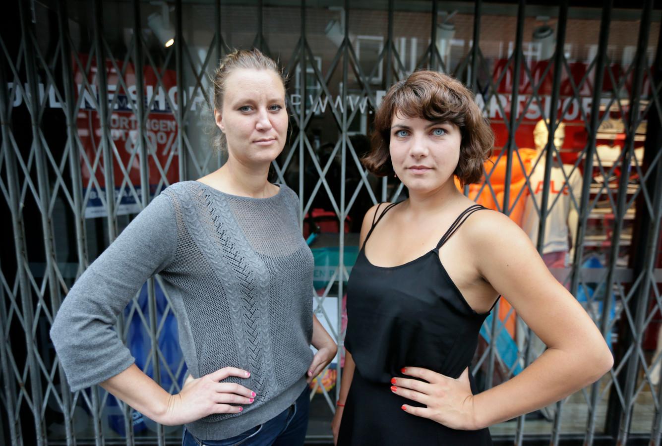Documentairemakers Josefien van Kooten en Anna Witte, de winnaars van de BN DeStem Cultuurprijs in 2016. De categorie was destijds 'korte film'.