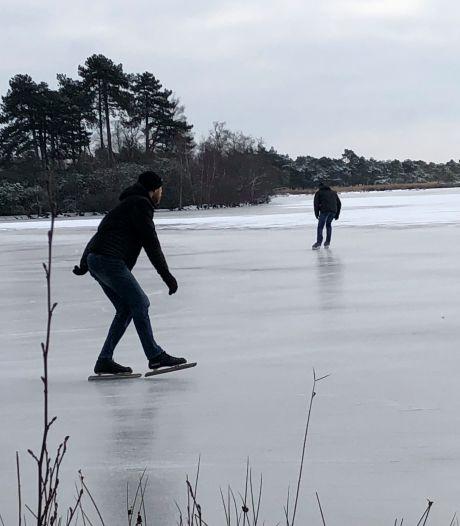 De eerste durfals schaatsen op De Flaes, maar nog niet overal