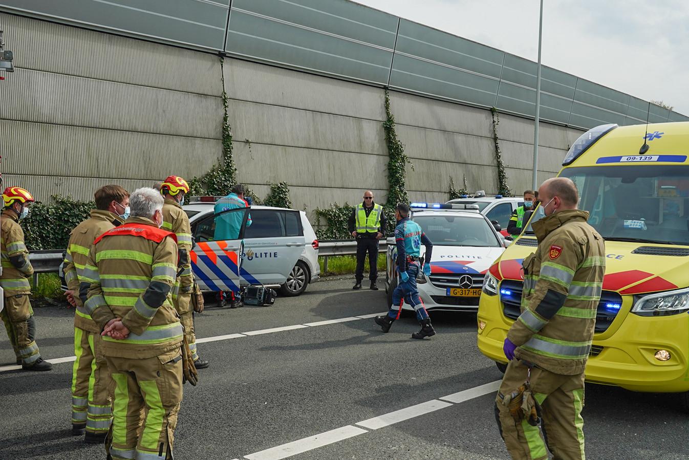 Ongeval met een politie-auto bij Driebergen.