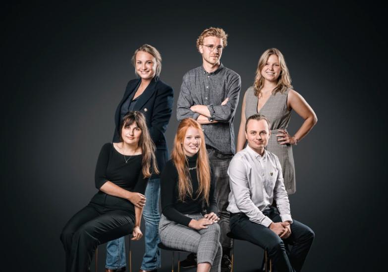 Groepsfoto van de News City Academy 2020-2021.