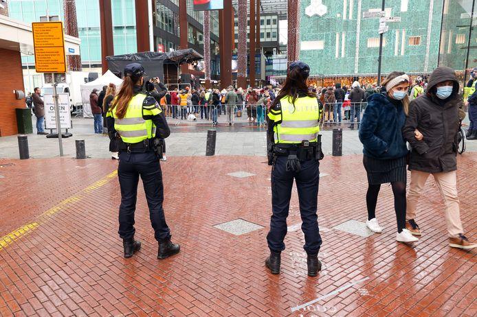 De anti-corona-demonstratie vorig jaar op het 18 Septemberplein in Eindhoven.