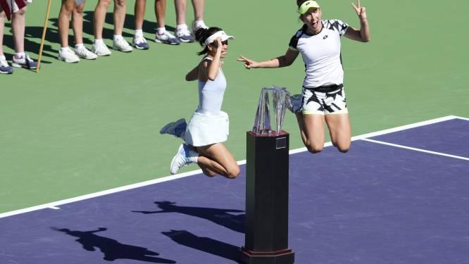 """Elise Mertens en dubbelpartner Hsieh Su-Wei schrijven het prestigieuze toernooi van Indian Wells op hun naam: """"Echt een goed duo"""""""