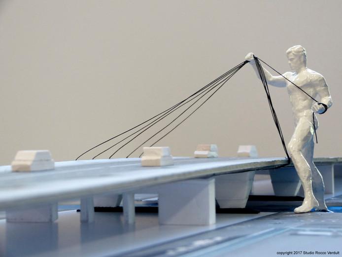 Het ontwerp van stadskunstenaar Rocco Verdult.